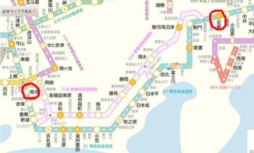 東名のマクドナルド情報路線図